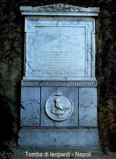 Lapide sepolcrale di Giacomo Leopardi